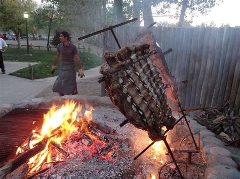 Fire pit cooking, Argentine style!   Outdoor Cooking