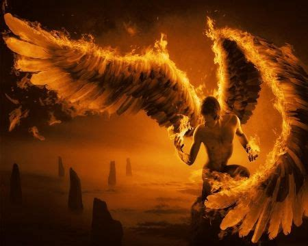 golden angel pictures | Burning Angel - fire, male, angel