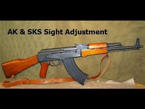 How to Adjust AK / SKS Iron Sights - YouTube